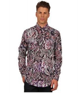 Just Cavalli Paisley Print Shirt Mens Long Sleeve Button Up (Red)