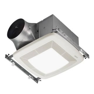 Broan ZB80L Bathroom Fan, 80 CFM Dual Speed ULTRA X2 Series w/Light amp; Energy Star Rated for 6 Duct