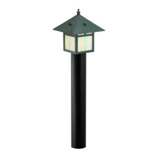 Focus Lighting AL09ATV 12V 18W Stamped Solid Brass Lantern Path Light Antique Verde
