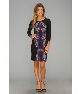 Laundry by Shelli Segal Key Hole Placement Print Matte Jersey Dress Womens Dress (Multi)