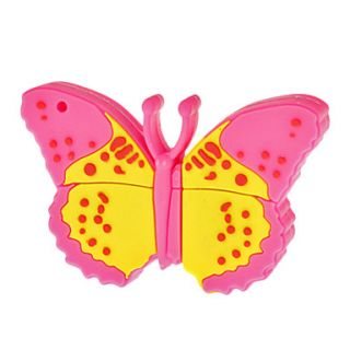 4G Cartoon Butterfly Shaped USB Flash Drive