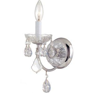 Crystorama Lighting CRY 3221 CH CL MWP Imperial Imperial 1 Light Clear Crystal C