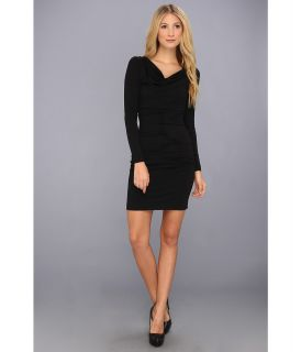Nicole Miller Jersey Cowl Neck Dress Womens Dress (Black)