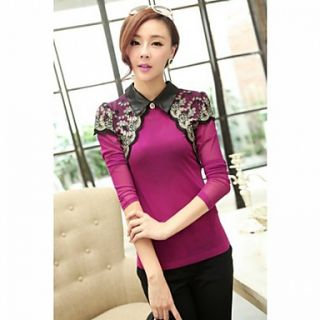 JFS Korea Sytle Womens Long Sleeve Lace Long Sleeve Shirt