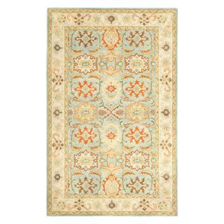 Safavieh Heritage HG734A Area Rug   Light Blue/Ivory   HG734A 6R, 6 ft. Round