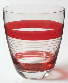 Block Crystal Tier Red Double Old Fashioned   Red Bands, No Trim