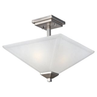 DHI CORP Design House 514802 Torino 2 Light Semi Flush Ceiling Light   Satin
