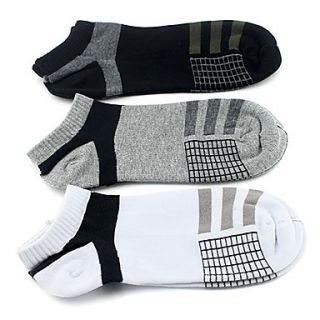 3 Pairs Unisex Comb Cotton Sports Socks