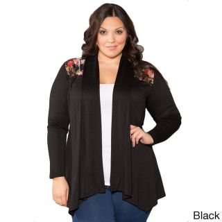 Womens Floral Lace Shoulder Cardigan