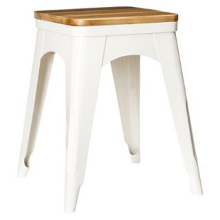 Accent Stool Threshold Metal Accent Stool   White