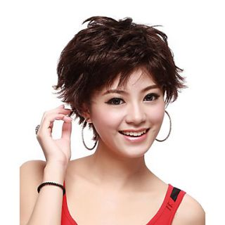 Capless Short Wave Brown High Quality Synthetic Hair Wig