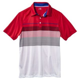 C9 by Champion Mens Advanced Striped Golf Polo Shirt   Red M
