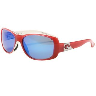 Costa Tippet Sunglasses   Polarized 400G Glass Mirror Lenses   CORAL WHITE/BLUE MIRROR 400G ( )
