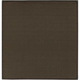 Recife Saddle Stitch Black Rug (86 Square) (BlackSecondary colors Natural beigePattern StripeTip We recommend the use of a non skid pad to keep the rug in place on smooth surfaces.All rug sizes are approximate. Due to the difference of monitor colors,