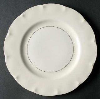 Haviland Leeds White & Cream Salad Plate, Fine China Dinnerware   New York,White