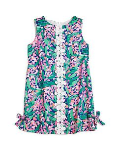 Lilly Pulitzer Kids Toddlers & Little Girls Lilly Classic Shift Dress   Teal