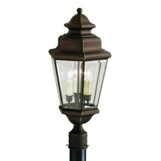 Kichler 9931OZ Outdoor Light, Transitional Post Mount 3 Light Fixture Olde Bronze