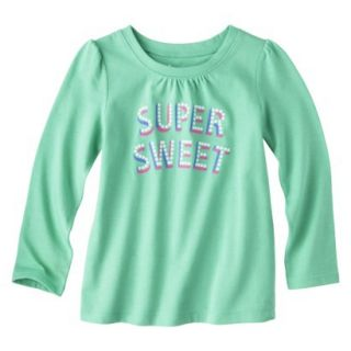 Circo Infant Toddler Girls Long sleeve Tee   Turquoise 18 M