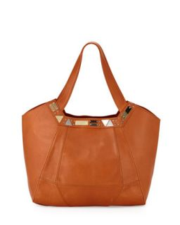 Iron Horse Studded Leather Tote Bag, Whiskey