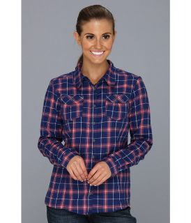 Mountain Hardwear Trekkin Flannel L/S Shirt Womens Clothing (Navy)