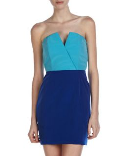 Bombshell Two Tone Dress, Turquoise/Vegas Blue