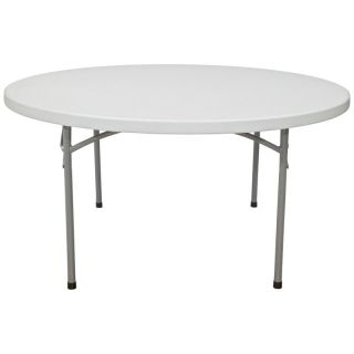 National Public Seating BT Series Round Blow Molded Folding Table Multicolor