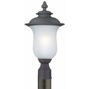 Thomas Lighting THO 190082030 Carlisle Lantern post Black 1x13W 120V