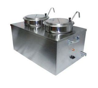 APW Wyott Food Cooker Warmer, Full Size, Double Bowl, 22 Qt., Soup Pack