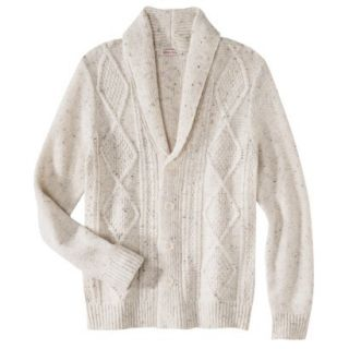 Merona Mens Shawl Collar Cardigan   Oatmeal Flecks XL