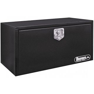 Buyers Steel Underbody Tool Box Black   1702300, 24L x 18W x 18H inches