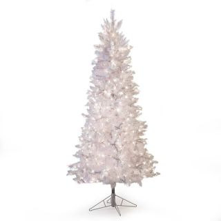 White Tiffany Pre Lit Tinsel Christmas Tree   6015 75W, 7.5 ft.