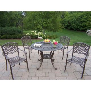 Oakland Living Mississippi Cast 42 in. Patio Dining Set   Seats 4   2011 2120 5