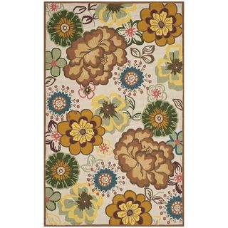 Safavieh Indoor/ Outdoor Four Seasons Ivory/ Brown Rug (5 X 8)
