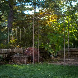 Coral Coast Acropolis Extra Wide Metal Arbor with Matching Trellis Multicolor