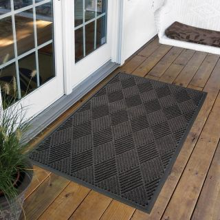 NoTrax Opus Indoor/Outdoor Rug   Charcoal Multicolor   168S0034CH, 3 x 4 ft.
