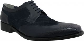 Mens Giorgio Brutini 21080   Navy Buff Leather/Suede Wing Tips