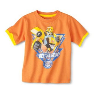Transformers Bumblebee Infant Toddler Boys Short Sleeve Tee   Orange 3T