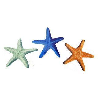 Star Fish Indoor / Outdoor Light Reflective Wall Art   Set of 3 Multicolor