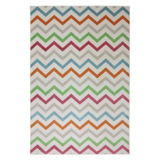 Mohawk Home Herringbone Indoor / Outdoor Rug Cream   90005 6013 096120, 8 x 10