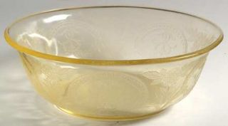 Indiana Glass Horseshoe Yellow Salad Bowl   Yellow              Depression Glass