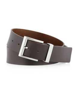 Bud Leather Belt, Dark Brown