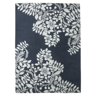 Room 365 Placed Floral Area Rug   Navy (5x7)