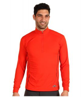 Hot Chillys Micro Elite Chamois Panel Zip T Mens Workout (Red)