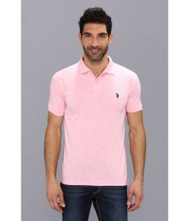 U.S. Polo Assn Solid Slub Polo Mens Short Sleeve Knit (Multi)