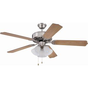 Ellington Fans ELF E205BNK Pro 205 52 Ceiling Fan Motor only with Integrated Li